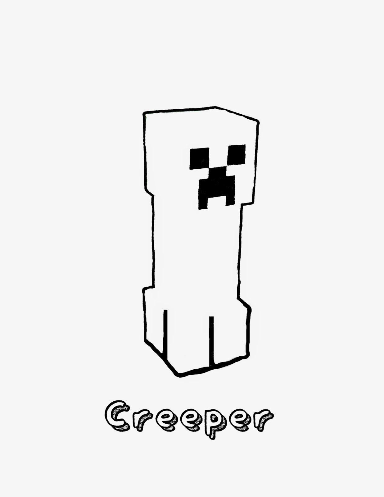 photo relating to Creeper Face Printable named Minecraft Coloring Webpages In direction of Print Totally free Herobrine Printable